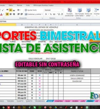 lista de asistencia archivos material para maestros planeaciones