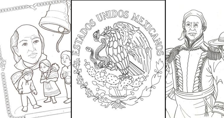 Imágenes y Dibujos para colorear sobre la Independencia de México ...