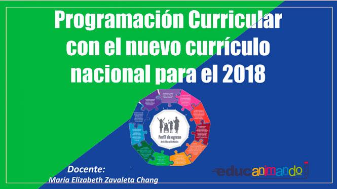 Programacion Curricular Para El 2018 Material Para Maestros