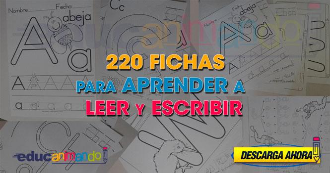 220 FICHAS PARA ENSEÑAR A LEER Y ESCRIBIR