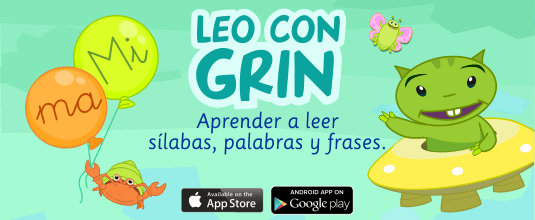 Aprender a leer app LEO CON GRIN Android iTunes