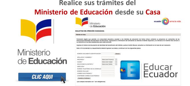 servicios en linea ministerio de educacion