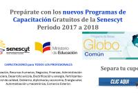 Prepárate con los nuevos Programas de Capacitación Gratuitos de la Senescyt - Periodo 2017 a 2018