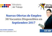 Nuevas Ofertas de Empleo (38 Vacantes Disponibles en Septiembre 2017)