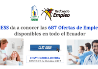 IESS da a conocer las 687 Ofertas de Empleo disponibles en todo el Ecuador