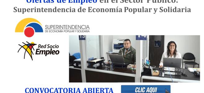 Ofertas de Empleo en el Sector Público: Superintendencia de Economía Popular y Solidaria