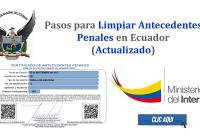Pasos para Limpiar Antecedentes Penales en Ecuador - Ministerio del Interior