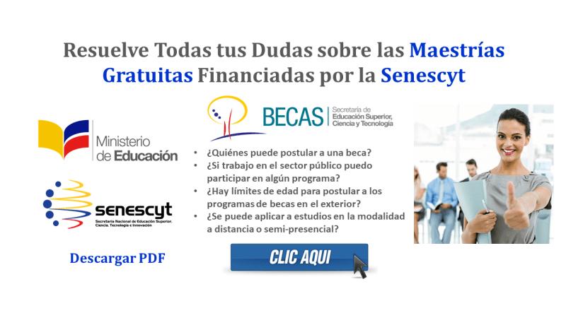 Resuelve Todas tus Dudas sobre las Maestrías Gratuitas Financiadas por la Senescyt