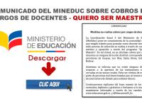 Comunicado del MinEduc sobre Cobros por cargos de Docentes - Quiero Ser Maestro 6 1