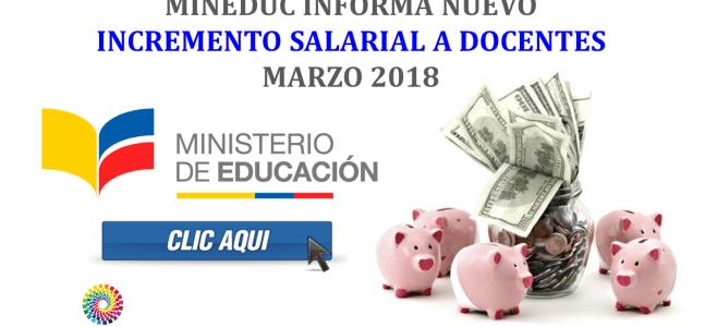 MinEduc informa Nuevo Incremento Salarial a Docentes