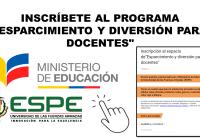 Inscríbete al programa Esparcimiento y diversión para Docentes del Ministerio de Educación