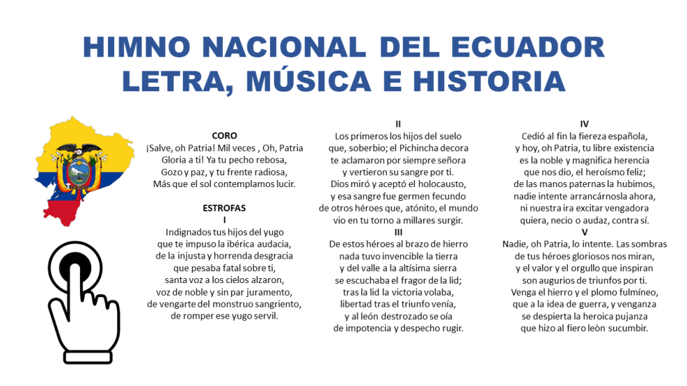 Himno Nacional del Ecuador - Letra Completa, Música e Historia  himno nacional del ecuador lo que se canta cantado descargar autores   significado del himno nacional del ecuador