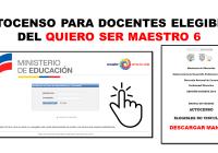 Autocenso para Docentes Elegibles del Quiero Ser Maestro 6