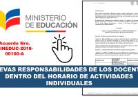 Nuevas Responsabilidades de los Docentes dentro del Horario de Actividades Individuales - MinEduc