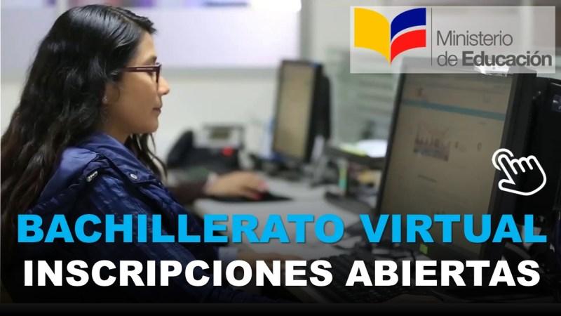 Inscripciones Abiertas para Bachillerato Virtual