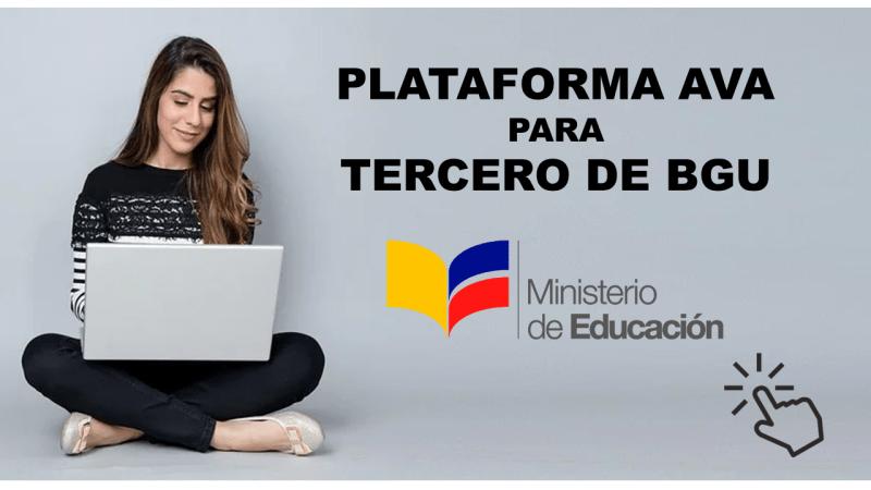 Plataforma AVA del Ministerio de Educación para Tercero de Bachillerato