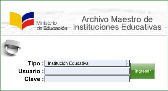 Archivo Maestro de Instituciones Educativas