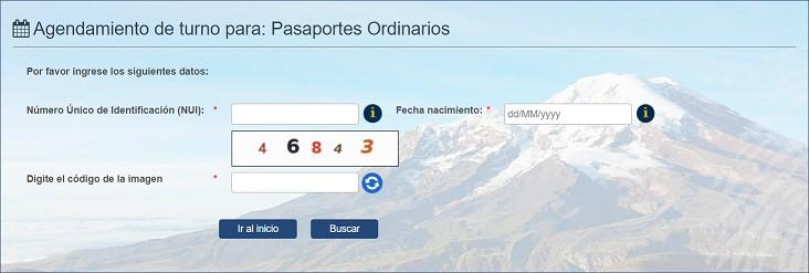 Procedimiento para Renovar Pasaporte en Ecuador
