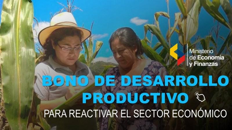 Nuevo Bono de Desarrollo Productivo para Reactivar el Sector Económico
