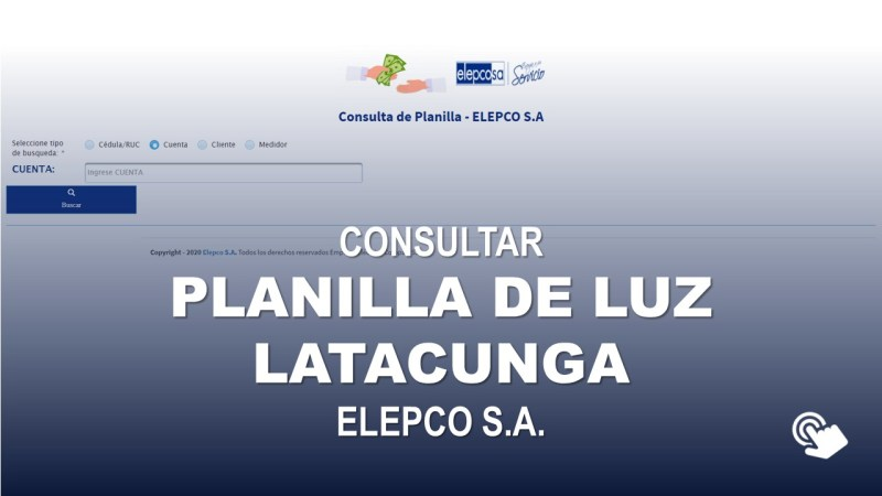 Consultar Planilla de Luz Latacunga ELEPCO S.A.