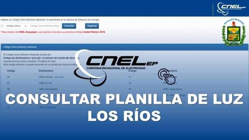 Consultar Planilla de Luz Los Ríos CNEL EP