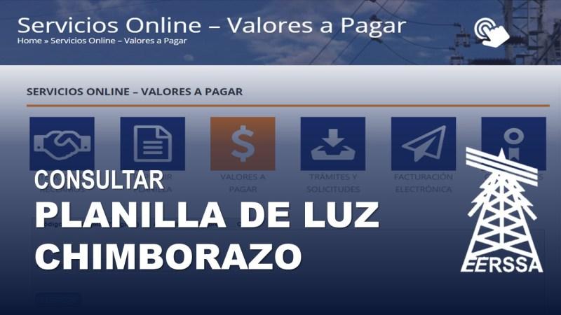 Consultar Planilla de Luz Chimborazo EERSA