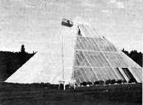 Les Brwon Pyramid greenhouse built in Canada