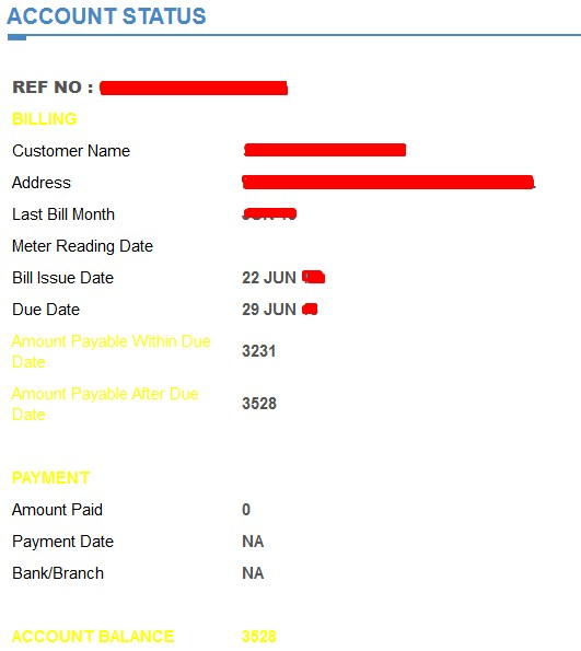 Bill Lesco - Account Status