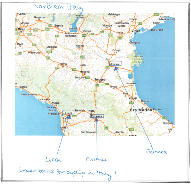 Great towns for cycling in Italy