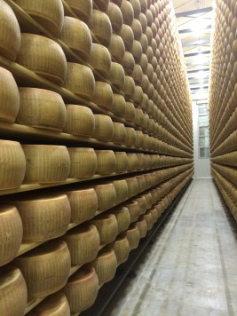 Parmesan Cheese - ages in warehouses in Emilia Romagna