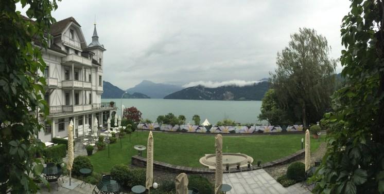 Panorama from Park Hotel, Weggis