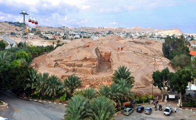 Excavations at Jericho - view from the south