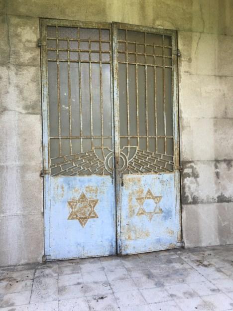 Imposing entrance to Finzi-Contini Mausoleum