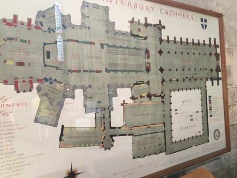 Canterbury Cathedral Plan