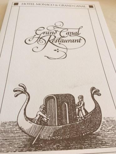 Hotel Monaco & Grand Canal - restaurant menu