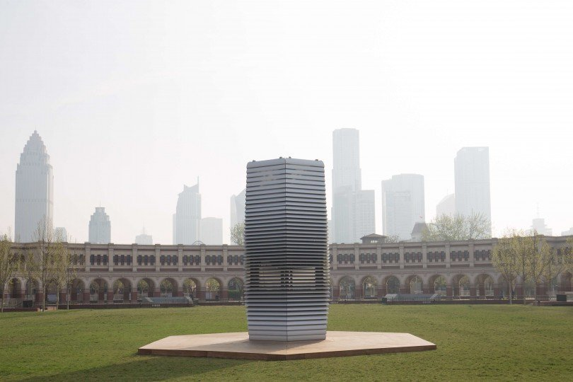 This smog-free tower cleans the air around it in China and collects the pollution