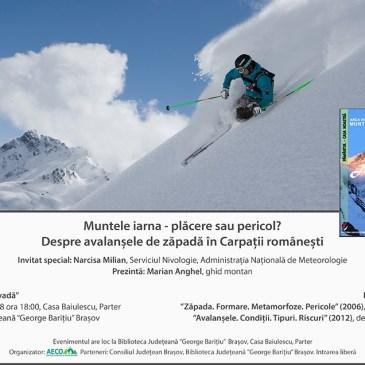 Muntele iarna – plăcere sau pericol? Despre avalanșele de zăpadă în Carpații românești