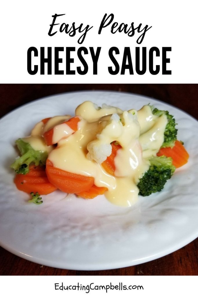 California medley with easy peasy cheesy sauce