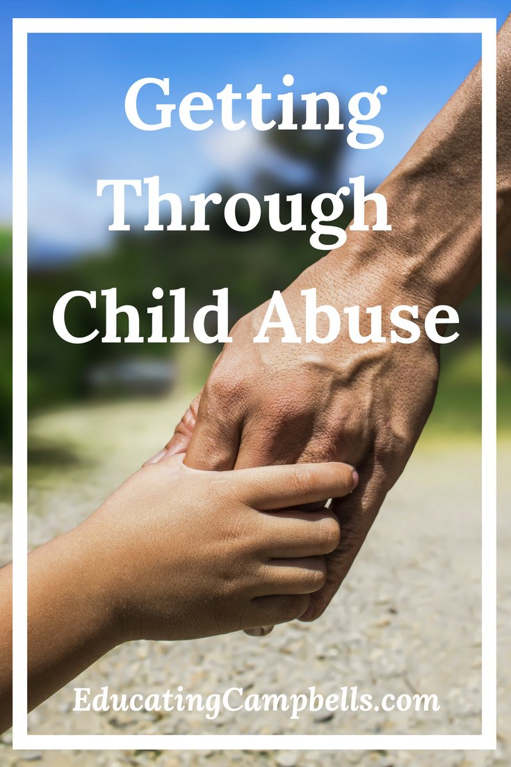Pinterest Image -- Getting Through Child Abuse, child and adult holding hands