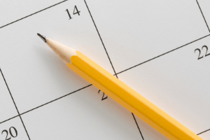 Planning Your Homeschool Year, calendar and pencil