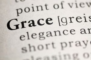 Homeschooling while pregnant, portion of dictionary page with definition of grace