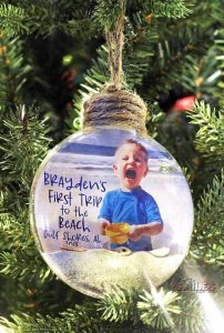 first beach trip ornament