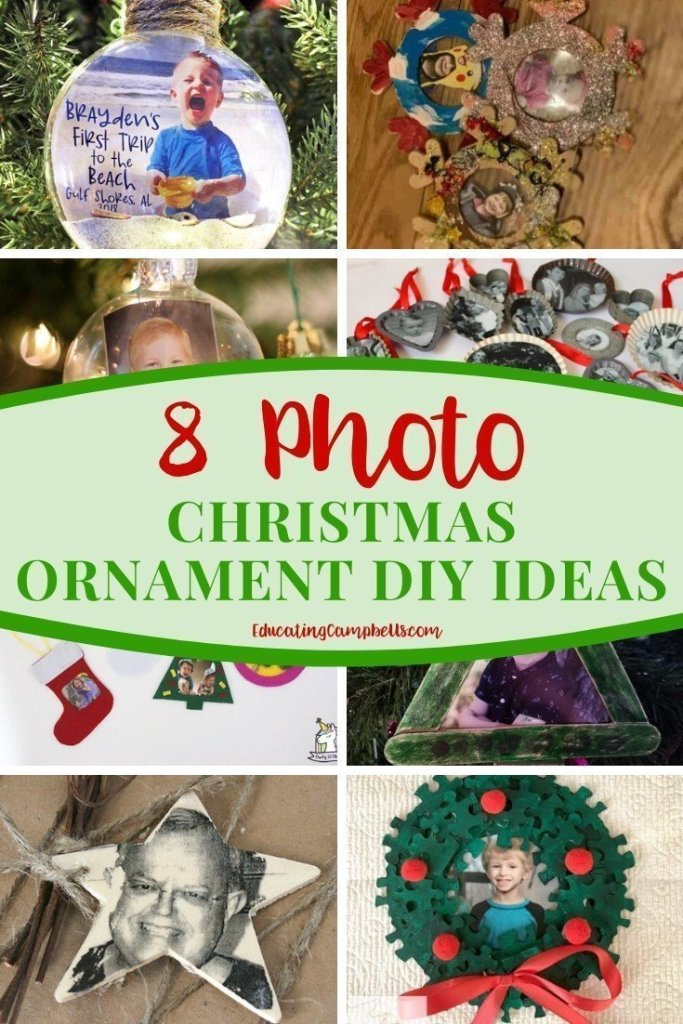 8 Photo Christmas Ornament DIY Ideas