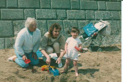 Nana Lillian, Mum and Me - Nearly 2 in May 1986