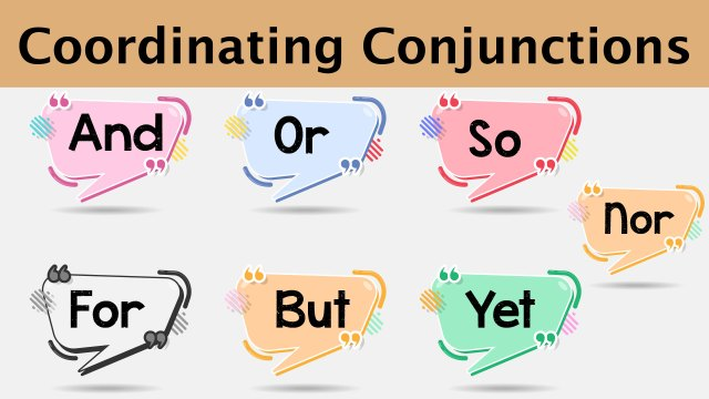 Conjunctions-Words-in-English---Coordinating-Conjunctions