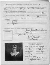 Enemy Alien Registration Affidavit for Jessie Varelmann 3