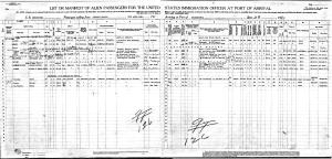 Luther Powell Passenger Arrival Manifest