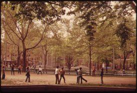 BOYS IN WASHINGTON SQUARE PARK, GREENWICH VILLAGE, LOWER MANHATTAN, 05/1973