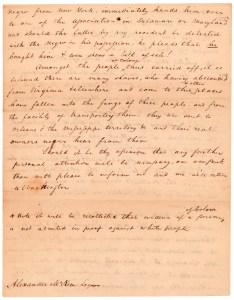 Letter from Elisha Tyson regarding kidnapped free blacks, December 5, 1811, page 4.