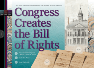 Congress Creates the Bill of Rights App